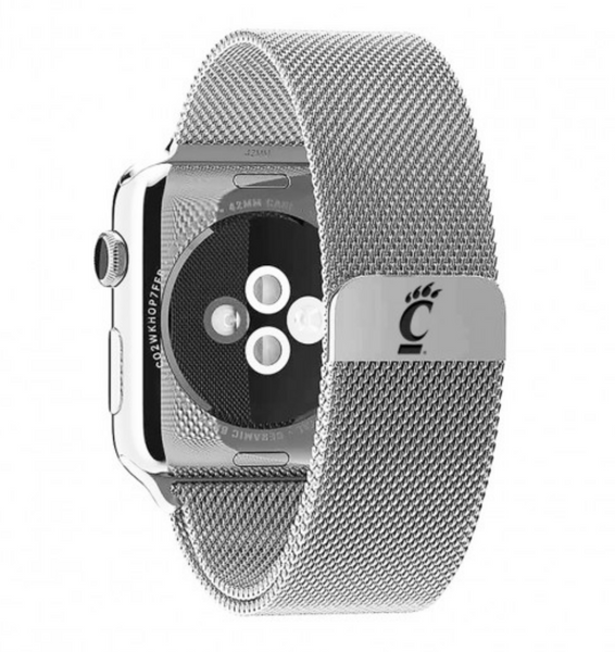 Cincinnati Bearcats Stainless Steel Replacement Apple Watch Band - DealsAmazingDeals.com