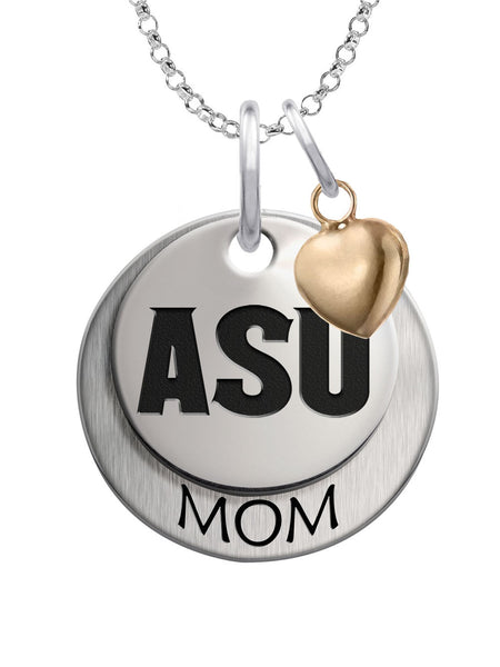Arizona State Sun Devils MOM Necklace with Heart Accent - DealsAmazingDeals.com