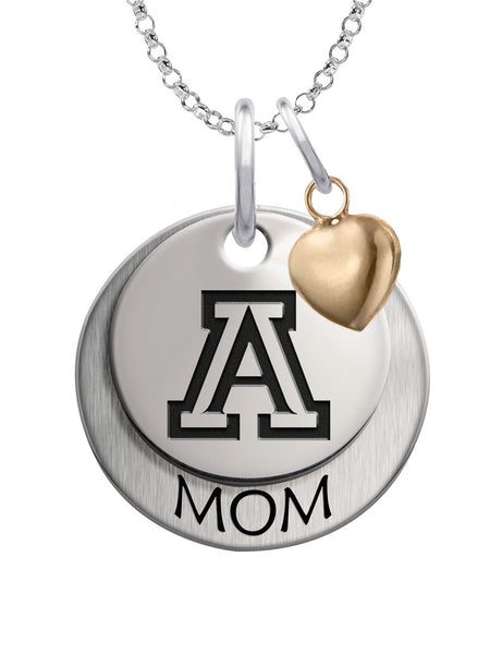 Arizona Wildcats MOM Necklace with Heart Accent - DealsAmazingDeals.com