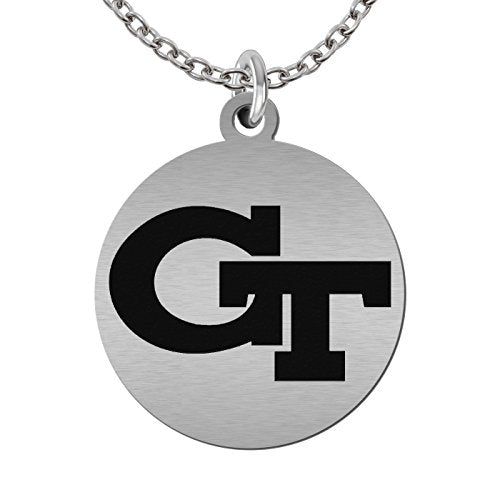 Georgia Tech Yellow Jackets Round Stainless Steel Necklace