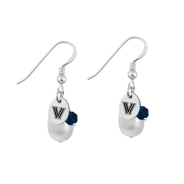 Villanova Wildcats Color and Freshwater Pearl Earrings