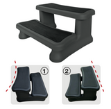 UNIVERSAL BLACK SPA STEPS (Fits both round and square spas)