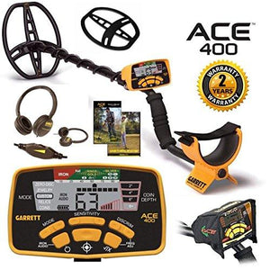 Returned Used Once Garrett ACE 400 Metal Detectors with Waterproof search coils (full warranties included) Garrett