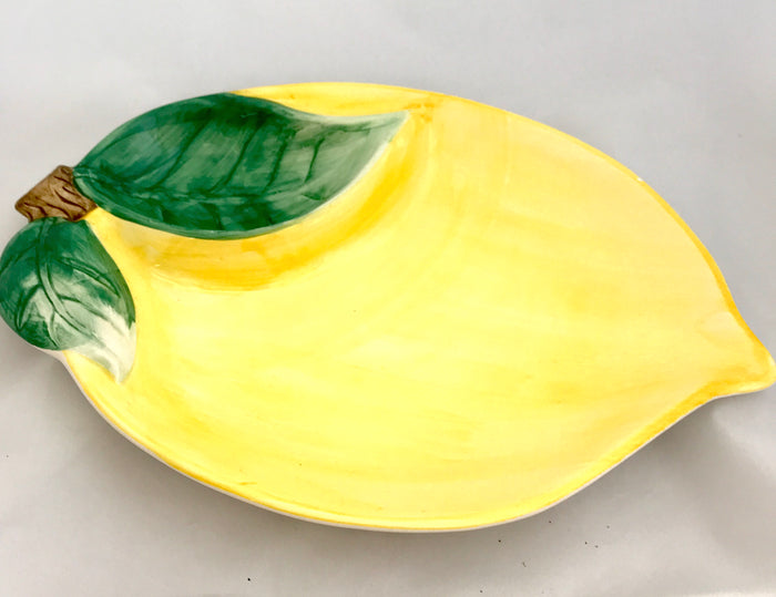 Ceramic Lemon Chip & Dish Server