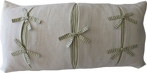 Bow and Pleats Pillow