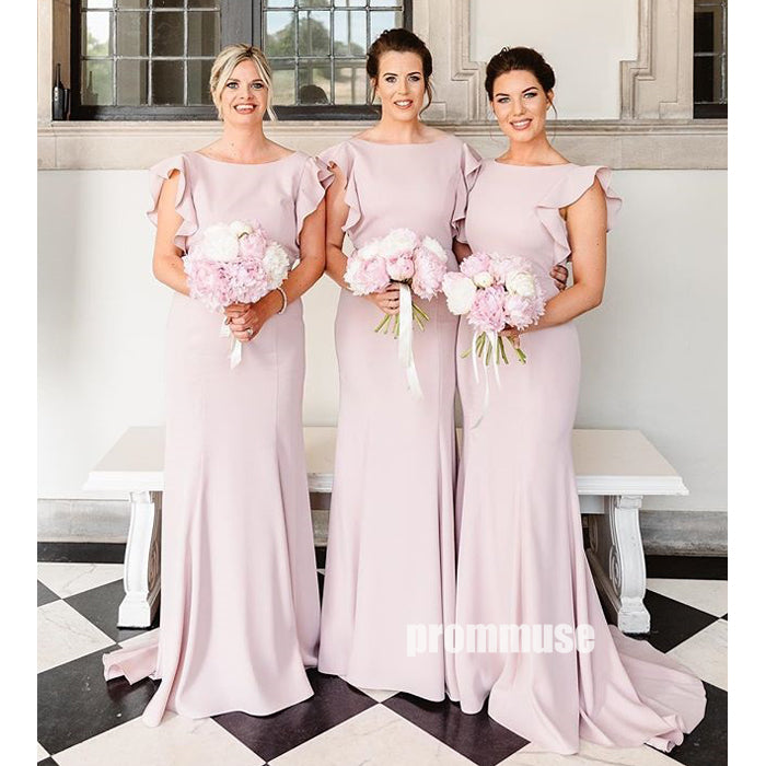 Elegant Mermaid Wedding Party Long Bridesmaid Dresses DGW23