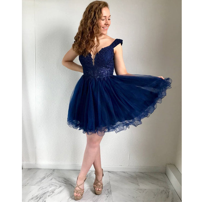 Royal Blue Teenagers Online Affordable Cute Short Homecoming Dresses, LD121