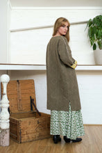 Load image into Gallery viewer, Reversible Coat - Pomegranate Iron/Moroccan Print Yellow-Women-The ANJELMS Project