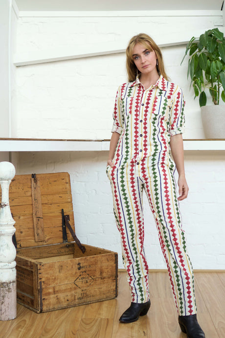 Boilersuit Diamond Print-Women-The ANJELMS Project