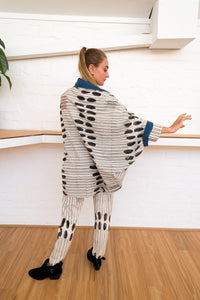 Reversible Cocoon Jacket | Humanity To Community Print-Women-The ANJELMS Project