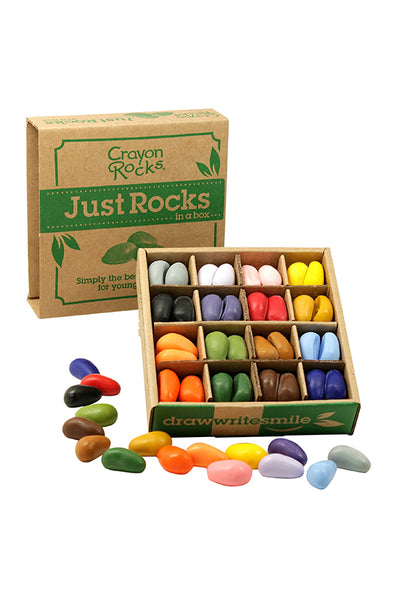 Just Rocks in a Box, 64 Crayons. 16 Colours