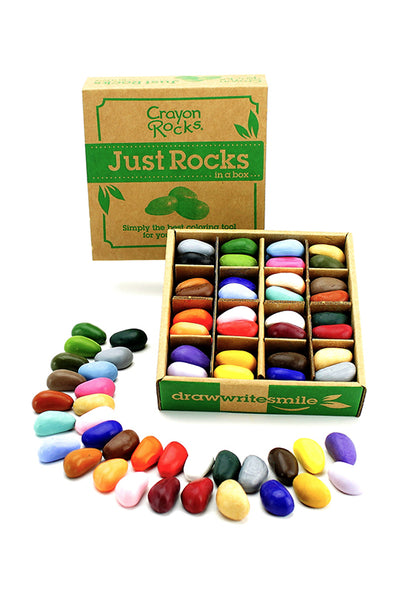 Rocks in a Box, 64 Crayons. 32 Colours