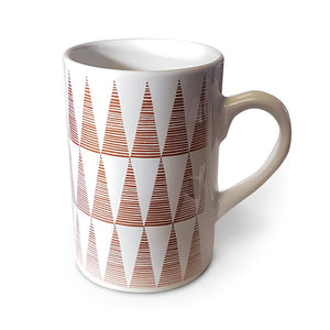 Orange Tall Triangles Mug<br>(Pack of 6)