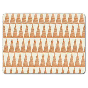 Orange Tall Triangles Tablemat<br>(Pack of 10)