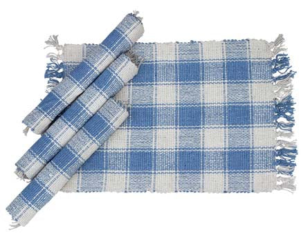 Sky Blue Plaid Placemat