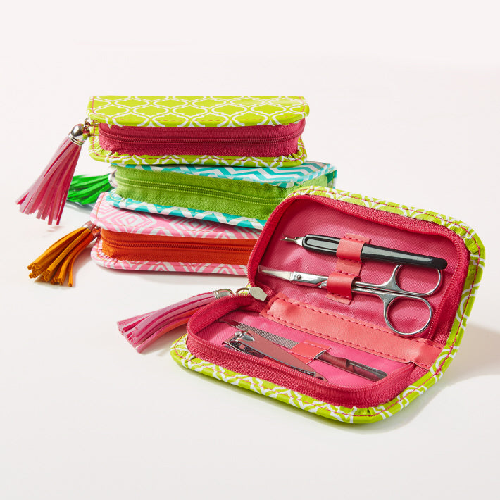 Nailed It Zippered (4 Piece) Manicure Kit with Tassel