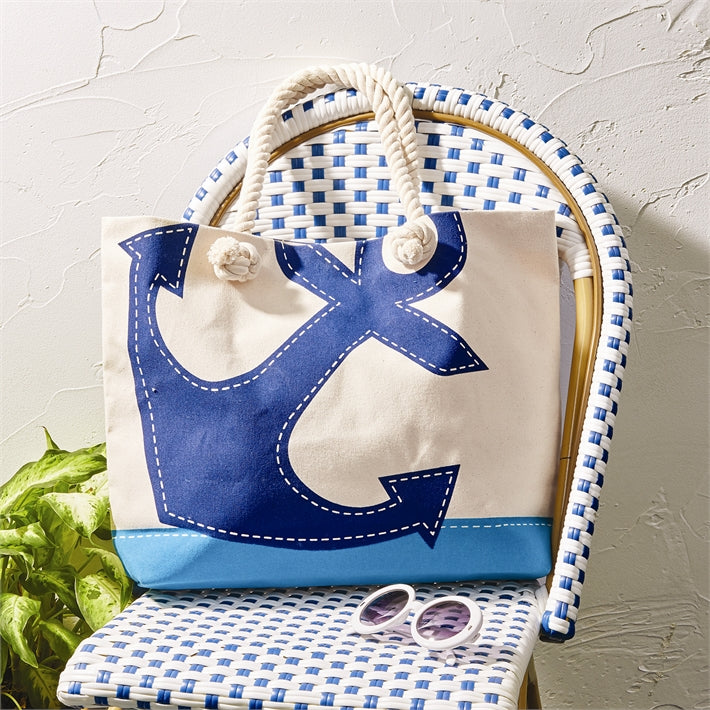 Anchors Away Tote Bag with Rope Handle