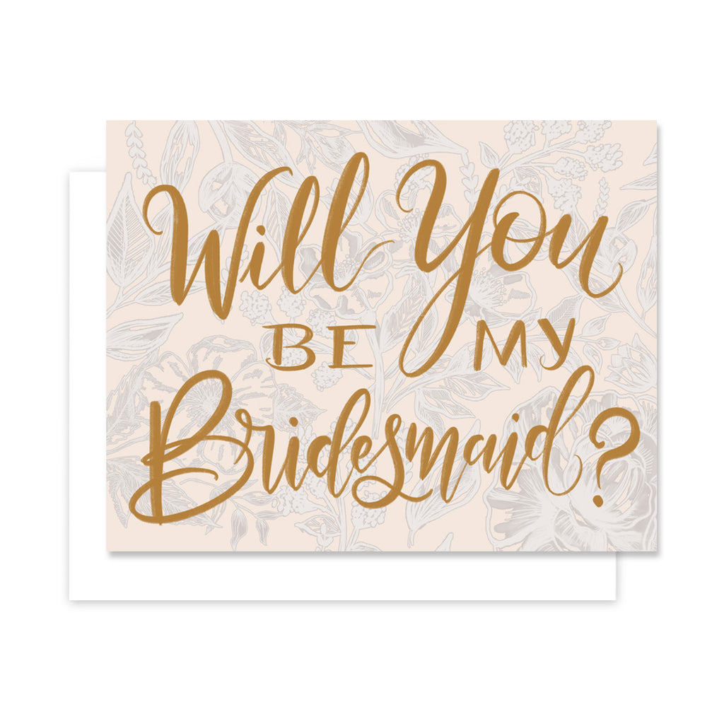 Lily & Val - Will You Be My Bridesmaid - A2 Note Card