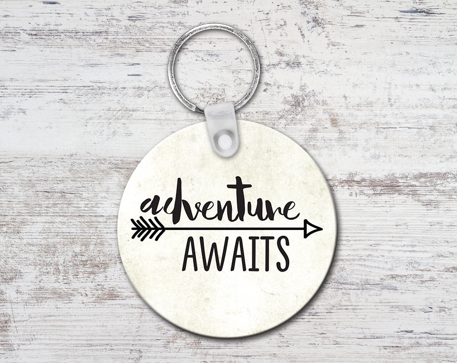 Adventure Awaits Keychain