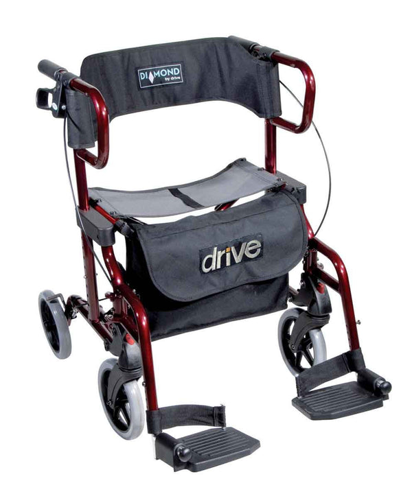 Drive Medical Rollator Walker Diamond Deluxe, red - PHILmed 24 Online Shop