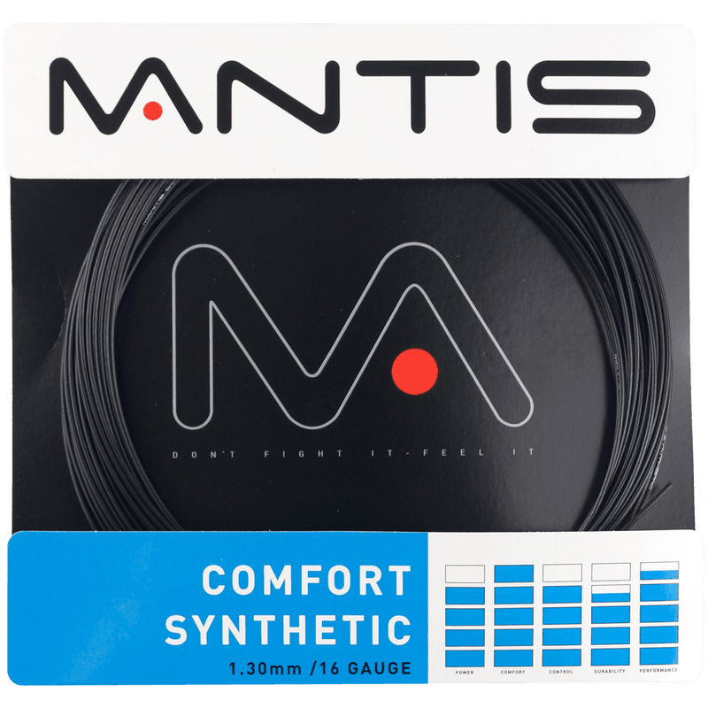 MANTIS Comfort Synthetic 16 Adult Size Tennis Restring
