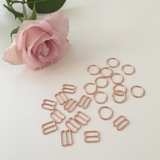 Rings and Sliders Rose Gold Haberdashery - Cotton Reel Studio