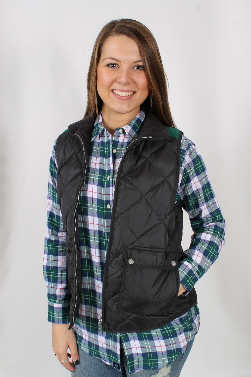 Charcoal Vest- Lauren James Easton Vest Front