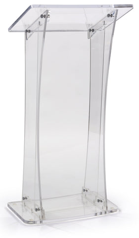 Acrylic Lectern With Portable Design
