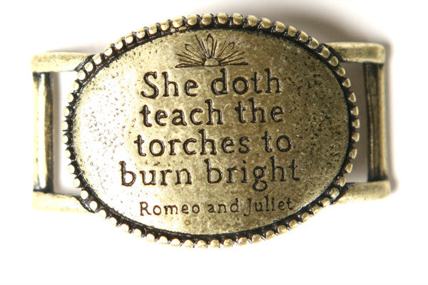 She doth teach the torches. antique brass - Across The Way