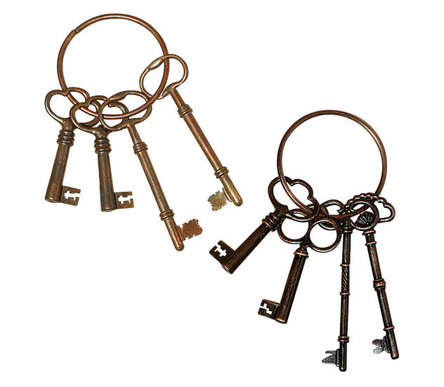 Key Ring w Antique Keys - Across The Way