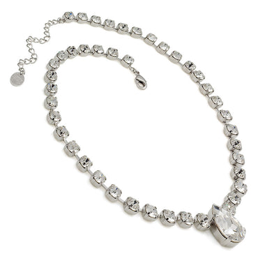 Necklace with Swarovski  code 1036 Crystal white stones