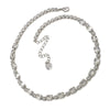 Necklace with Swarovski  code 1062 Crystal white stones