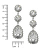 Graceful Crystal Tear Earrings