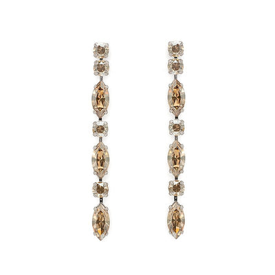 Earrings with Swarovski code 3038L Golden Shadow G