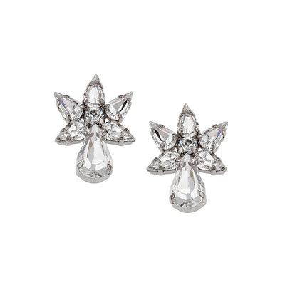 Earrings with Swarovski code 3199 Crystal white stones