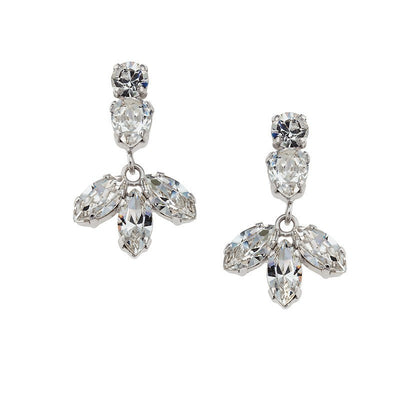 Earrings with Swarovski code 3502 Crystal white stones