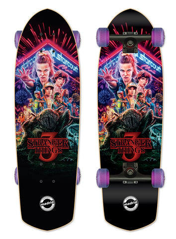 Madrid X Stranger Things 3 - Title Poster Cruiser 28.5""