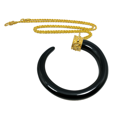 Black Tusk Necklace By Kenneth Jay Lane