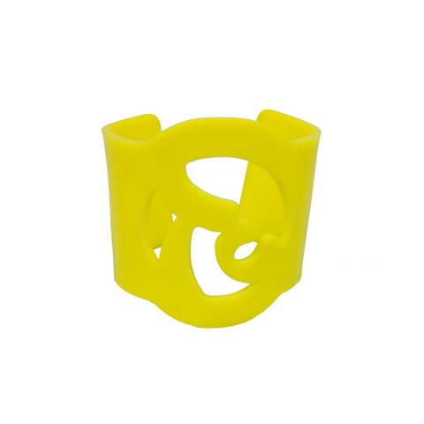 Carved Plexiglass TuChic Bracelet in Yellow