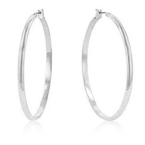 Classic Hoop (SilverTone) Earrings