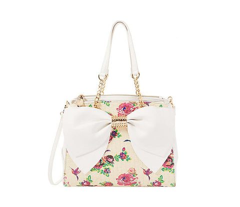 Welcome to the Big Bow Satchel by Betsey Johnson