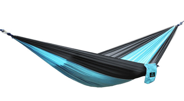 Tree Sack Hammock - Light blue on Dark Grey (Single)