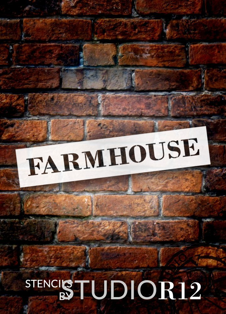 "Farmhouse - Country Serif - Word Stencil - 29"" x 5"" - STCL1969_3 - by StudioR12"