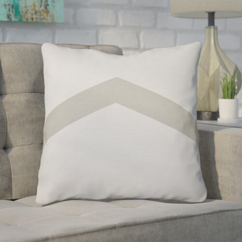 "Carnell Down Throw Pillow Size: 20"" H x 20"" W, Color: Oatmeal"