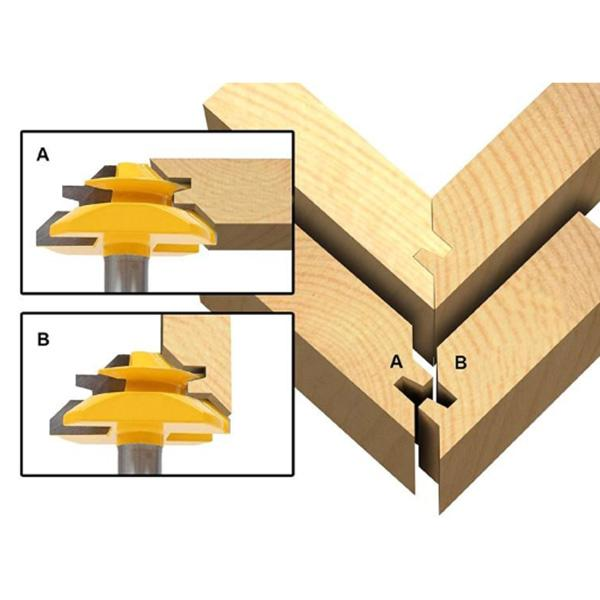 45 Degree Joint Router Bit Woodworking Cutter Tool