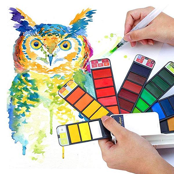 Travel Painting Set For Kids, Painting Learners, 18 Colors & 42 Colors