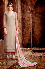 Grey Georgette Party Wear Suit With  Dupatta