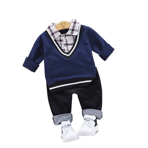 Boys Long sleeves Shirt & Trousers