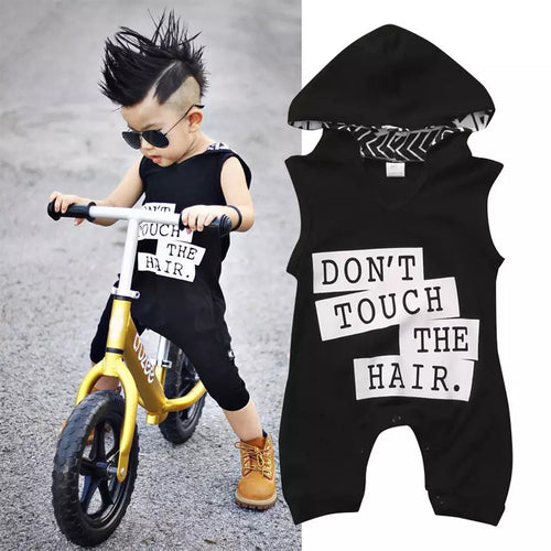 Dont Touch Hooded Romper