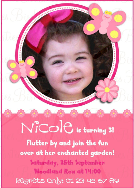 Butterfly Birthday Party Printable Invitations | BirdsParty.com
